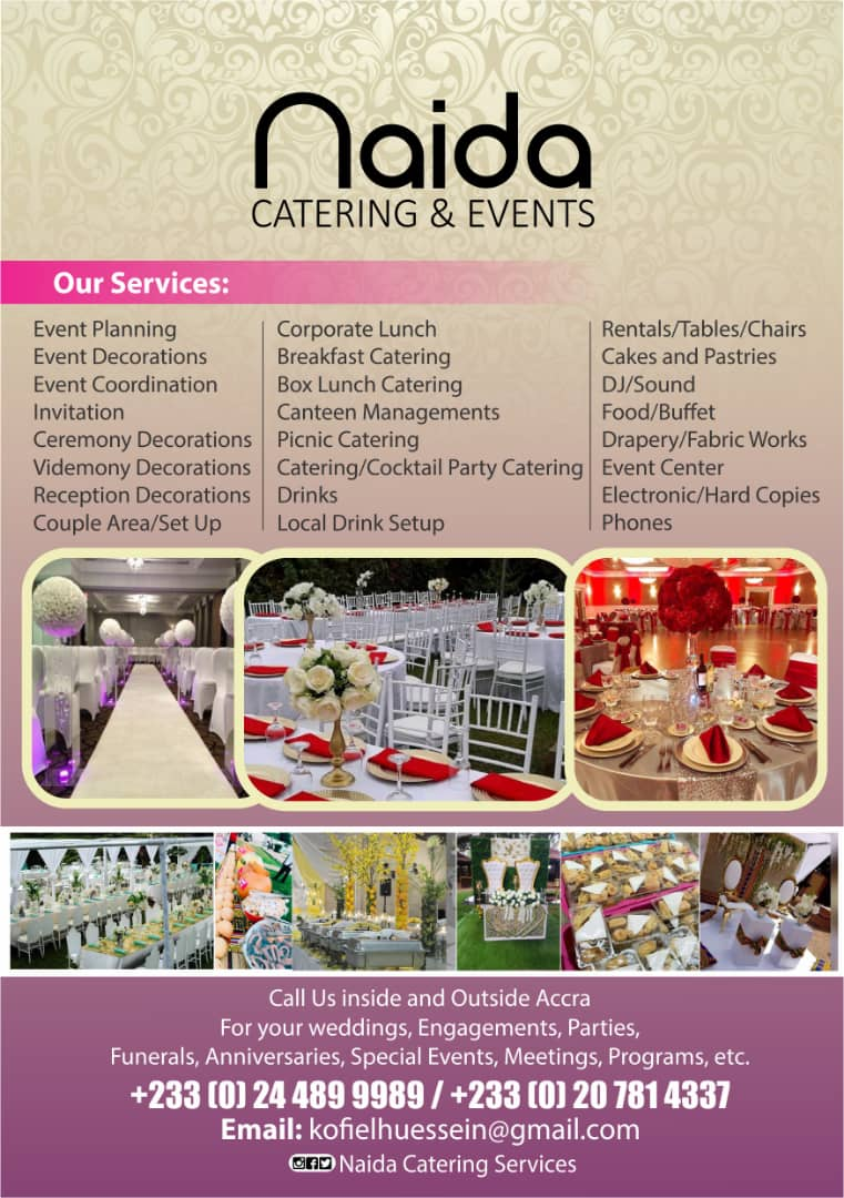 NAIDA. CATERING AND EVENTS: